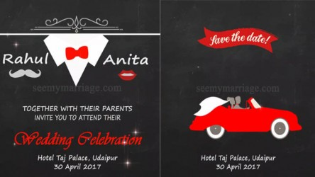 Our nikah wedding invitation video seemymarriage happy days a chalk board theme sparkle animated wedding save the date invitation video stopboris Image collections