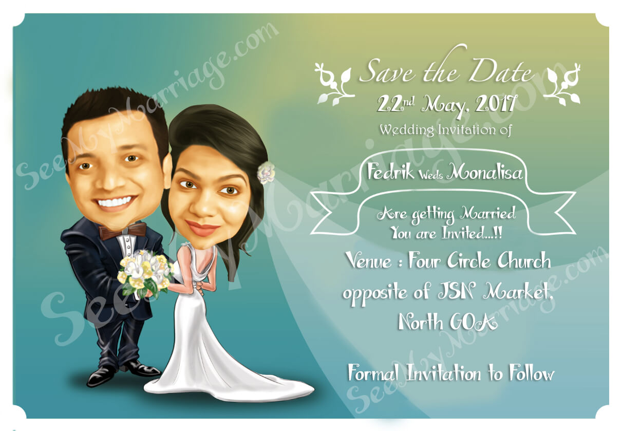 Wedding cards design a wedding e card couple personal Married to design