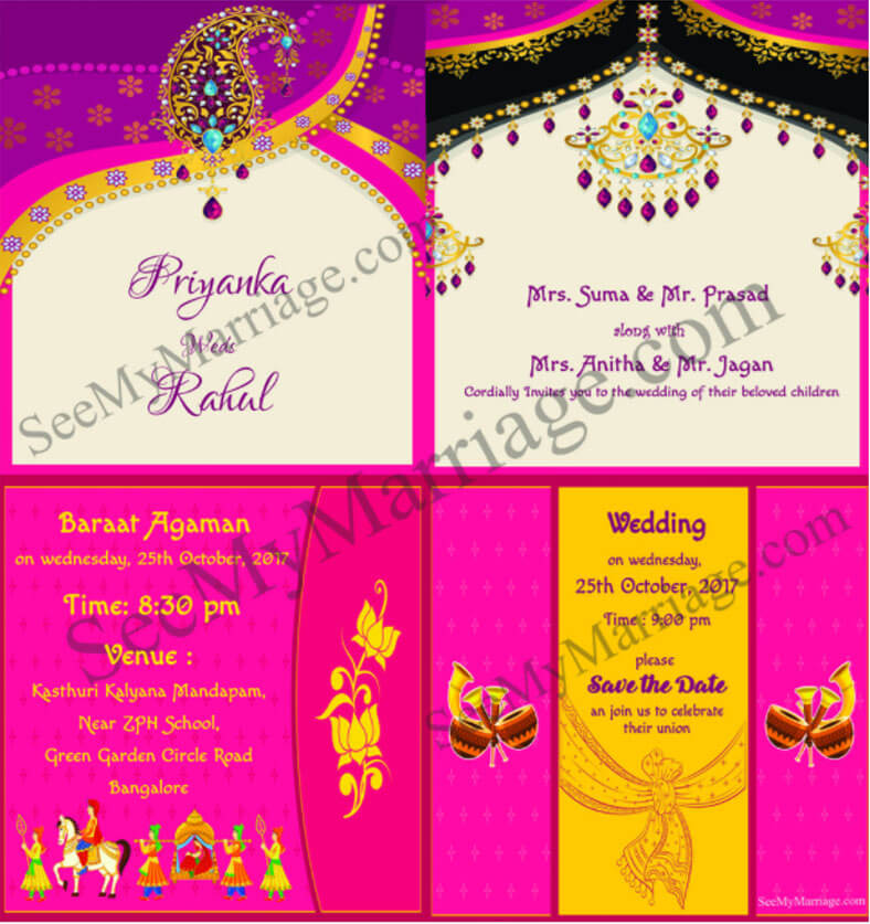 Traditional Indian Wedding Save The Date