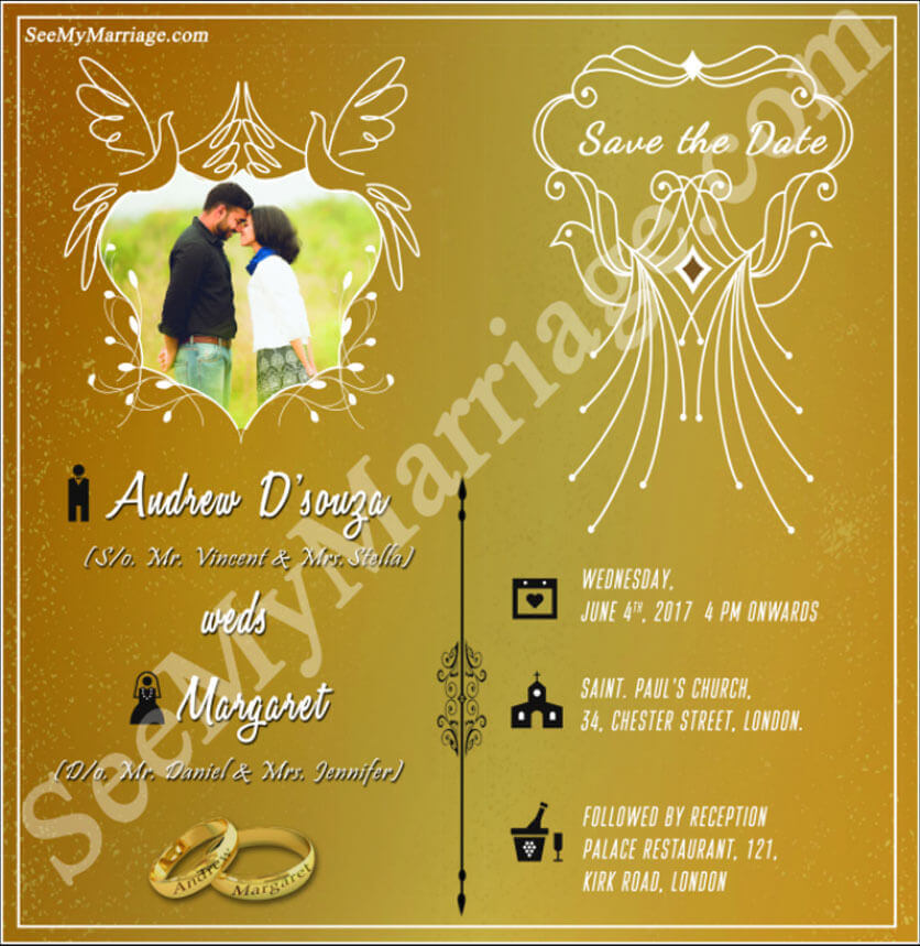 Golden Save The Date For Wedding Invitation Wedding: Stylish Best Wedding Save The Date