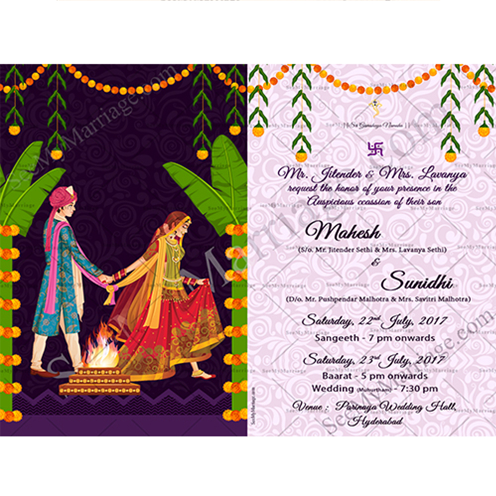 Ayushman Bhava – A North Indian Style Traditional Couple Wedding Save The  Date Invitation Whatsapp E-Card – SeeMyMarriage
