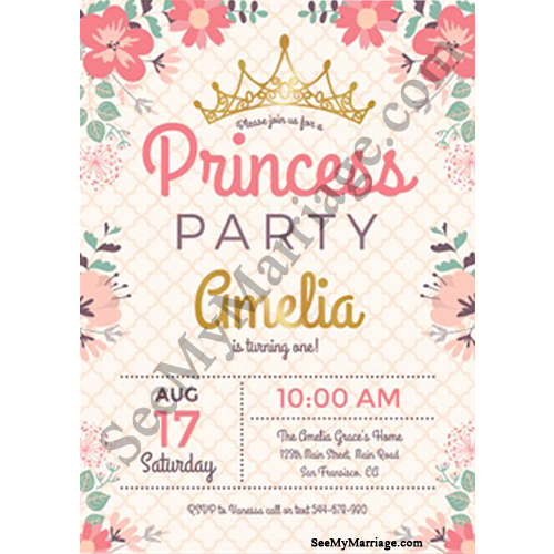 The Most Beautiful Girl 1st Birthday Party Invitations Catch My Party