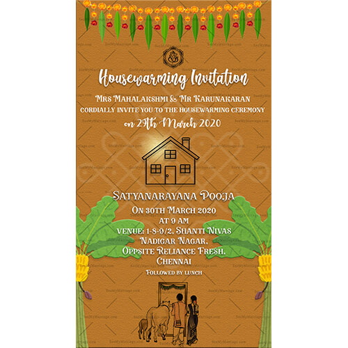 New Tamil Housewarming Whatsapp Invitation Card Seemymarriage